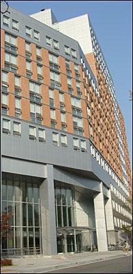 수원 성균관대 자연과학 캠퍼스 기숙사 신관 모습.