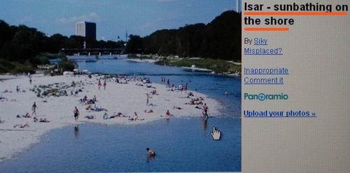 이자강에서 일광욕을 즐기는 시민들 모래섬으로 되 살아난 이자강에 많은 시민들이 일광욕을 즐기고 있습니다. 되살아난 이자강을 시민들이 얼마나 좋아하는지는 구글 어스에서 쉽게 확인 할 수 있습니다.
