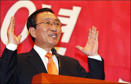 노회찬 진보신당 대표가 29일 오후 국회 의원회관 소회의실에서 2010년 서울시장 선거 출마선언을 하고 있다.