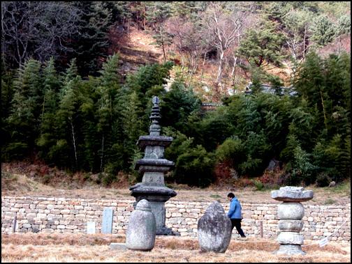 백장암 삼층석탑 대나무와 어우러진 백장암 삼층석탑