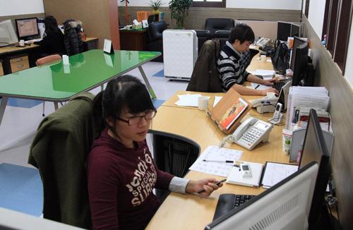 (주)케이넷 사무실 케이넷 사무실의 모습