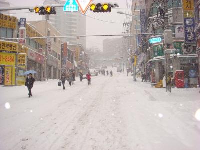 2010년 1월 4일 출근길 풍경-1 경기도 성남시 중원구 '남한산성입구역'일대 출근길 풍경