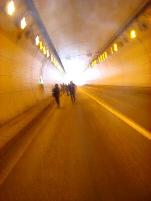 2010년 1월 4일 출근길 풍경-4 터널안 풍경
