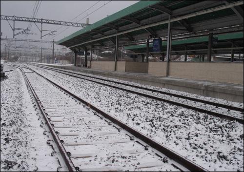 호남선 임성역. 무궁화호 열차가 멈추는 간이역이다.