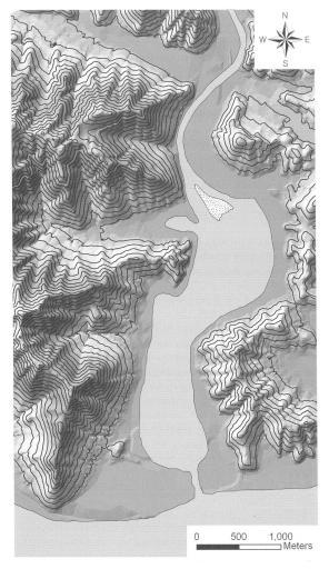 기원전 500년 경의 비봉만 비봉만은 시간이 지나면서 염수가 빠지고 담수가 그 자리를 채우고 서서히 퇴적물이 쌓인다. 신석기시대의 유적 환경과 청동기시대의 유적 환경에 큰 변화가 생긴 셈이다.