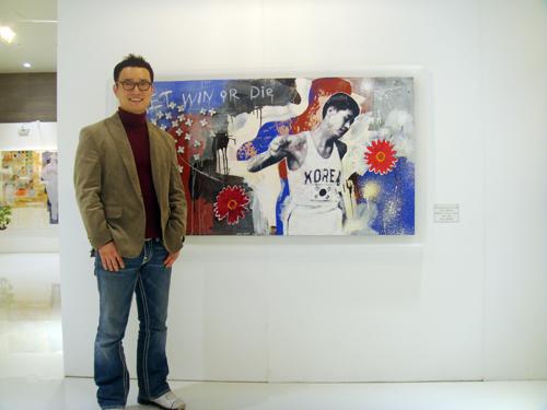 함영훈 작가와 함기용을 주인공으로 한 그의 작품.