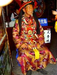나시족의 종교 의례를 관장 하는 <둥파>. 리장고성 둥파궁