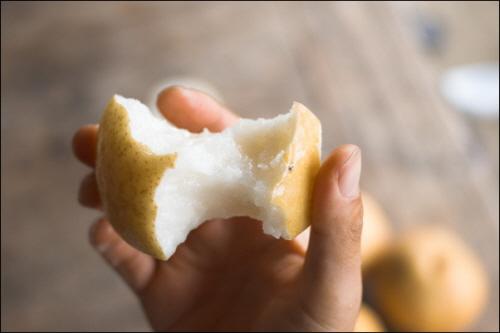 유기농배 농약,화학비료없이 키운 것이라 껍질째 먹어도 안심이다.
