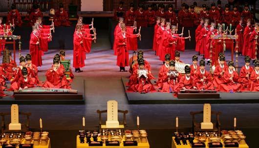 3월 4,5일 국립국악원 예악당에서 열린 문묘제례악 전곡연주 현장.