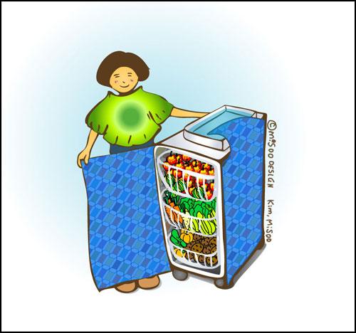 대안 생태 냉장고의 최고봉, '배기가스 제로(zero Emission) 서랍식 냉장고'