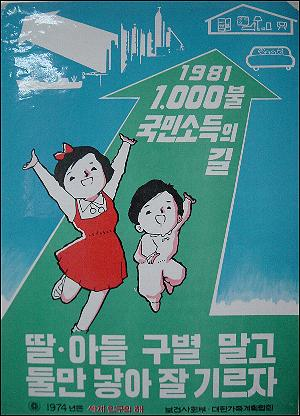 1960년대의 가족계획 포스터