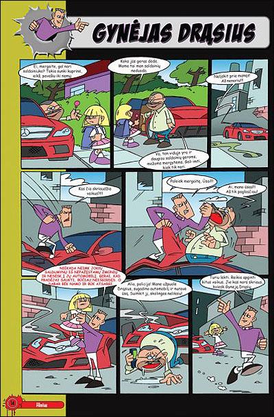 만화에서 어린이를 구하는 수호자로 다시 태어난 드라슈스 케디스. 그러나 많은 이들이 이 만화의 해악성을 우려하고 있다.