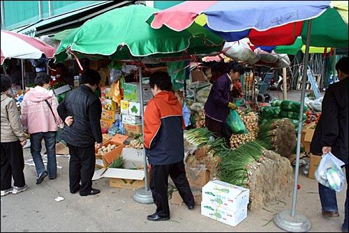 지난 30일 아침 서울시 가락동 농수산물도매시장은 쇼핑 카트를 끌고 온 소매 손님들로 북적였다.