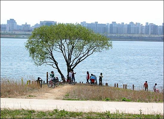 난지한강공원 강변 산책로 풍경.