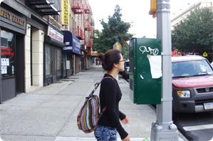 뉴욕의 거리에서 명품의 도시 뉴욕에서도 당당한 나의 가방
