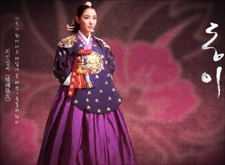 MBC 드라마 <동이>에서 장희빈 역할을 맡고 있는 탤런트 이소연.