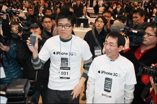 지난해 11월 28일 서울 잠실 실내체육관에서 열린 아이폰 개통 행사