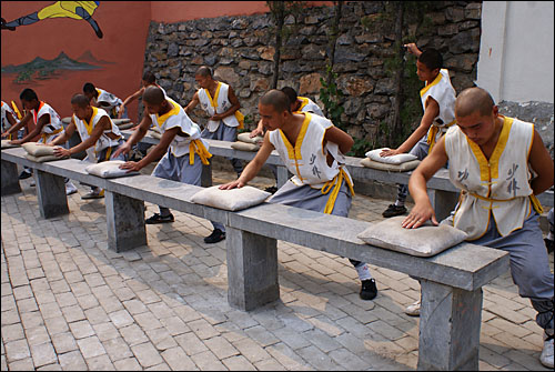 Martial Arts at the Shaolin Temple (from ohmynews.com)