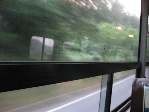 율포에서 터미널로 돌아가는 버스.