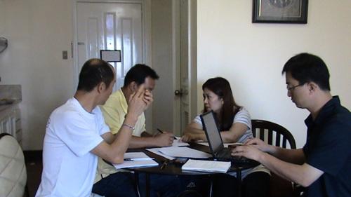 인터뷰 모습 필리핀 귀환 이주노동자 실태 조사 인터뷰 모습