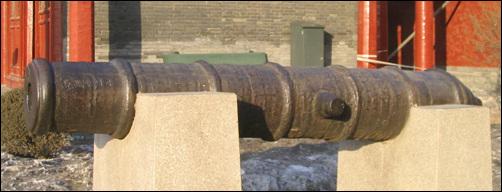 홍이포. 병자호란 당시 청나라가 사용했던 홍이포. 심양 고궁에 있다.