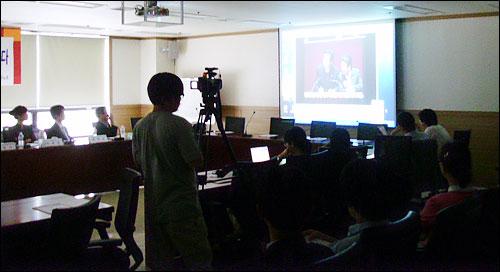 대토론회 1부에서는 언론노조가 제작한 영상물 '언론악법 불법 날치기 현장, 그 날을 잊지 않는다'가 상영되었다