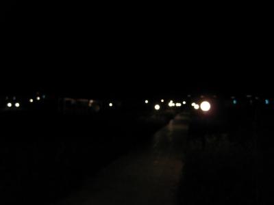 시골. 비포장도로. 쓸쓸한 어둠.