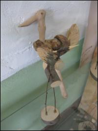 정선미술관에 전시돼 있는 목공예품