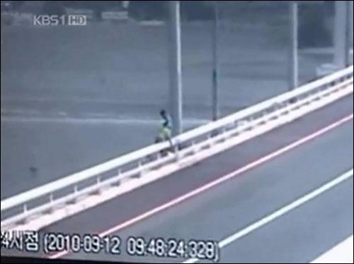 마창대교 CCTV에 잡힌 투신장면.