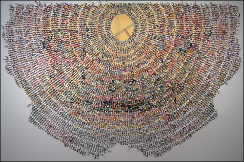 '평면의 진동(Tremblement de la surface)' 아크릴물감 291×192cm 2008