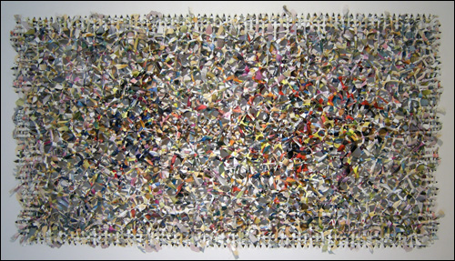'공간별곡(Peinture spatiale)' 아크릴물감 162×97cm 2009