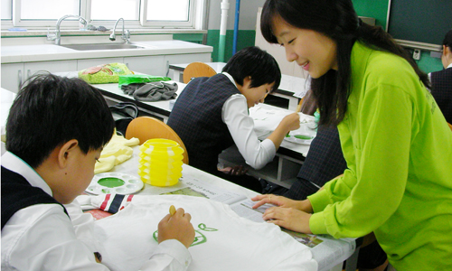 천연페인트로 그림 그리는 리틀대자연 환경지킴이
