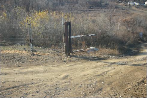 러시아 중국 국경지대 철조망