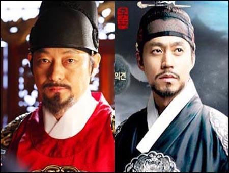 최근의 TV 사극에서 정조 역을 맡은 두 배우. 왼쪽은 <성균관 스캔들>의 조성하, 오른쪽은 MBC <이산>의 이서진.