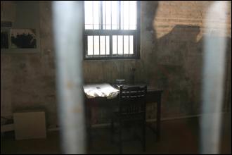 뤼순감옥 내 안중근이 수감된 감방