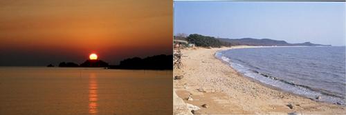 마시안해변에서의 일몰