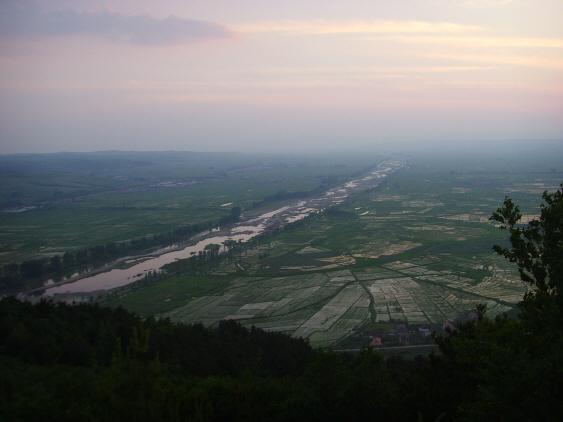 가곡 '선구자'에 나오는 해란강의 모습.