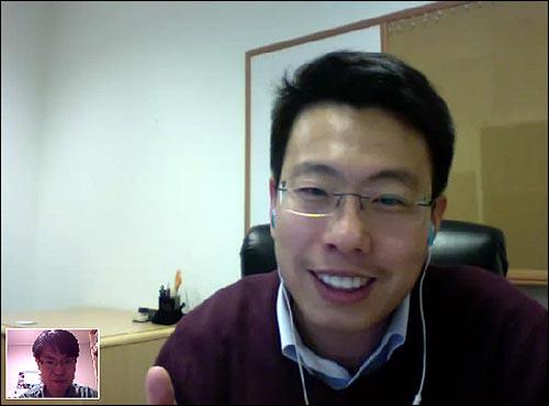 임정욱 라이코스 대표 화상 인터뷰는 지난 21일 아침 7시(미 현지시각 20일 오후 5시) 스카이프로 영상 통화로 진행했다.
