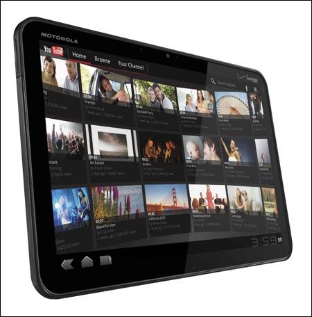 CES2011 올해의 제품으로 뽑힌 안드로이드 허니콤 운영체제 태블릿 모토로라 줌