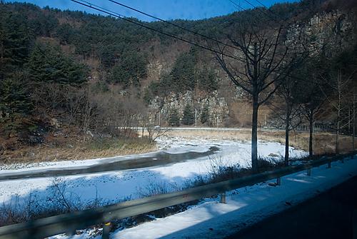 사북에서 정선읍으로 가는길에 펼쳐진 풍경이 아름답다.