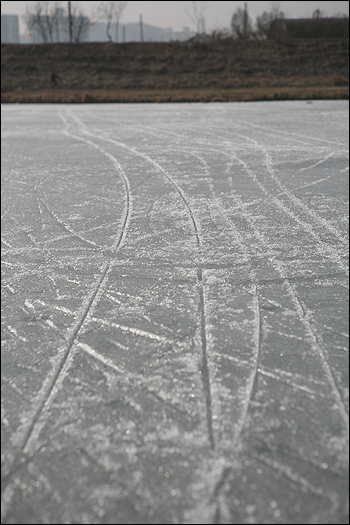 . 서서히 얼음이 녹고 있습니다.