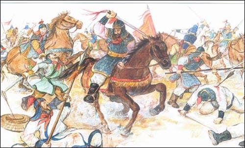 신라군의 전투 장면. 출처: <한국생활사박물관> 5권.