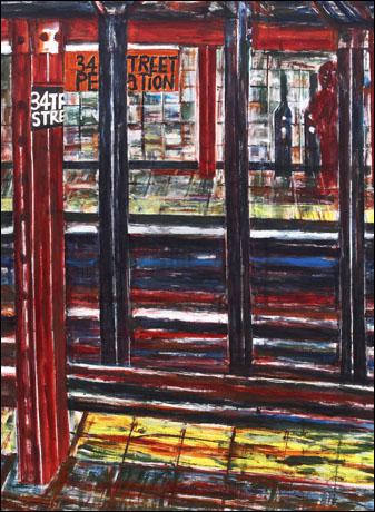 '지하철 34거리 34번지(34st. 34th Street)' 캔버스에 아크릴물감 200×175cm 2010