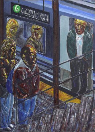 '지하철-다운타운행(Subway-For Down Town)' 캔버스에 아크릴물감 140×171cm 2010