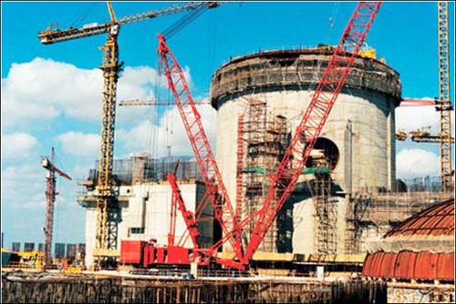 중국의 원전 중국 저쟝성의 친산 원전 2단계 건설공정 가운데 1호기 공사현장.