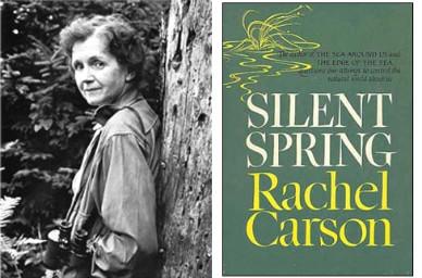 레이첼 카슨과 <침묵의 봄> 책 표지(출처 http://www.boseong51.net/)