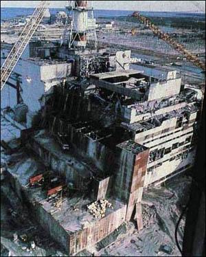 사고 이후의 체르노빌 원전.