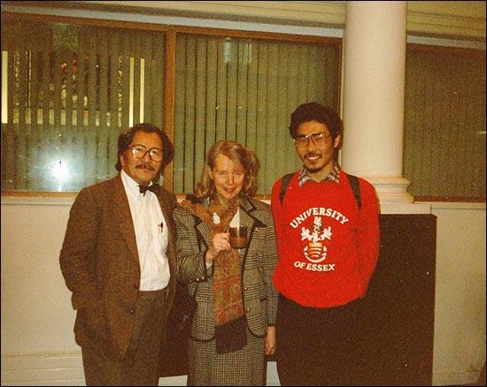 김동길 선생님, 안띠아, 나. 1991년 2월 영국 런던에서...