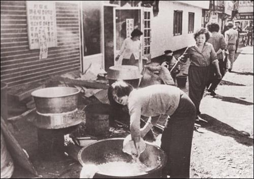 80년 5월, 광주민주화운동 당시 모습.