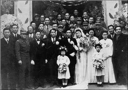 1950년 12월 12일 대구 계산성당에서 열린 박정희-육영수 결혼식